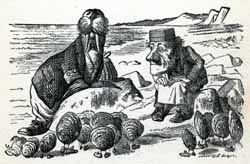 John Tenniel interprets the Walrus and the Carpenter