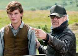 Spielberg directing Jeremy Irvine in War Horse