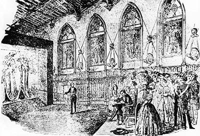 Banvard presentin his panorama to Queen Victoria, Windsor Castle, spring, 1849