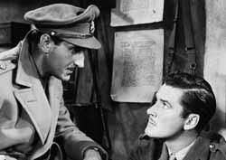 With Errol Flynn in The Dawn Patrol