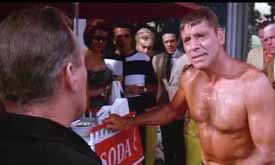 Burt Lancaster (right) in The Swimmer