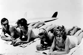 The Endless Summer: Robert August (left) and Mike Hynson (second from right)