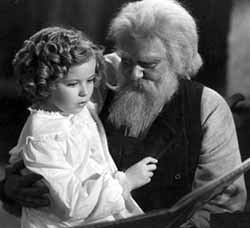 Shirley Temple and Jean Hersholt in Heidi