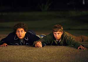 Jonah Hill and Michael Cera in Superbad